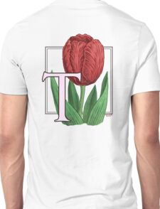 T is for Tulip Unisex T-Shirt