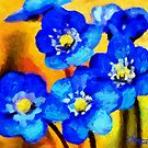 Blue Wild Flowers by DiNovici