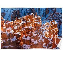 Snow Capped Hoodoos  Poster