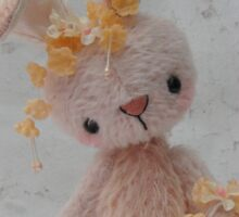 Handmade bears from Teddy Bear Orphans - Roberta Rabbit Sticker