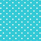 Cyan polkadot iPad case by PixelRider