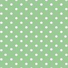Pale green polkadot ipad case by PixelRider