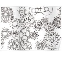 Cogs #3 (Outline) Poster