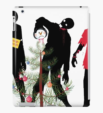 Funny Zombies decorating Christmas tree iPad Case/Skin