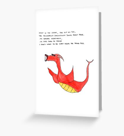 yellowbelly-snaggletooth Greeting Card