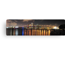 High Resolution - Miami Skyline Canvas Print