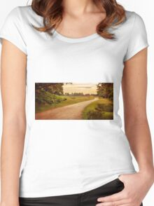 Summer At Bradgate Park, England Women's Fitted Scoop T-Shirt