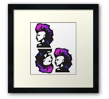 Punk in Violets and Blues Framed Print