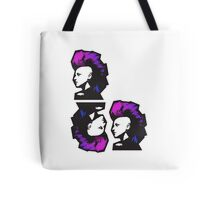 Punk in Violets and Blues Tote Bag