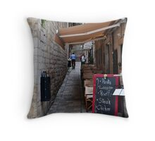 Pasta in Dubrovnik Throw Pillow