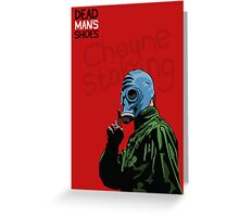 Dead Man's Shoes Paddy Considine Comic Style Illustration Greeting Card