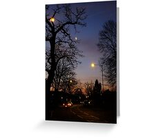 Winter Dawn in the Suburbs of London Greeting Card