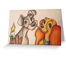 Lady and The Tramp Greeting Card