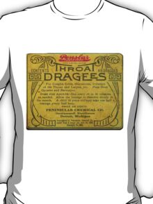 Vintage Detroit Throat Dragees Tin Cover ca. 1910 T-Shirt