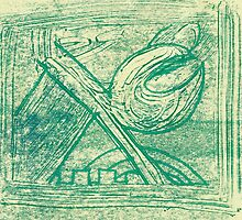 Green mechanical 1 by Helen Carmichael