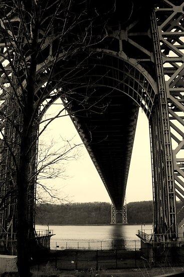 Under the George Washington Bridge by Amanda Vontobel Photography
