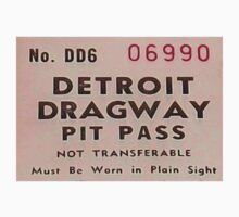 Vintage Detroit Dragway Pit Pas ca. 1965 by The Detroit Room