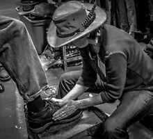 Shoe shine by Cindy Crossley