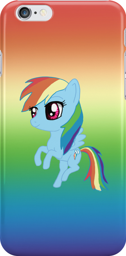 My Little Pony Rainbow Dash Chibi by IcyPanther