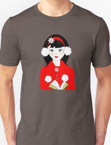 Pretty Christmas Carol Singer T-Shirt
