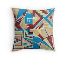 Deco Screenprint Throw Pillow