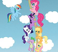 My Little Pony Group Hanging Out by IcyPanther