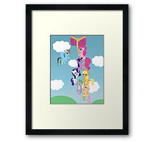 My Little Pony Group Hanging Out Framed Print