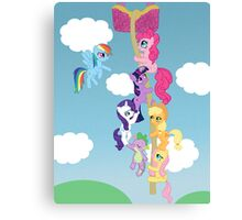 My Little Pony Group Hanging Out Canvas Print