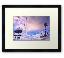 Frozen Alien Landscape Framed Print