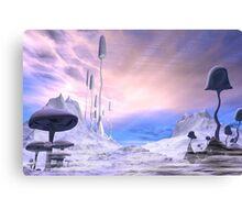 Frozen Alien Landscape Canvas Print