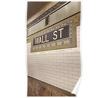 Wall St Subway Tile Poster