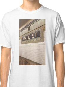 Wall St Subway Tile Classic T-Shirt
