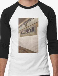 Wall St Subway Tile Men's Baseball ¾ T-Shirt