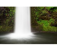 Frothy Falls into Moss lagoon Photographic Print