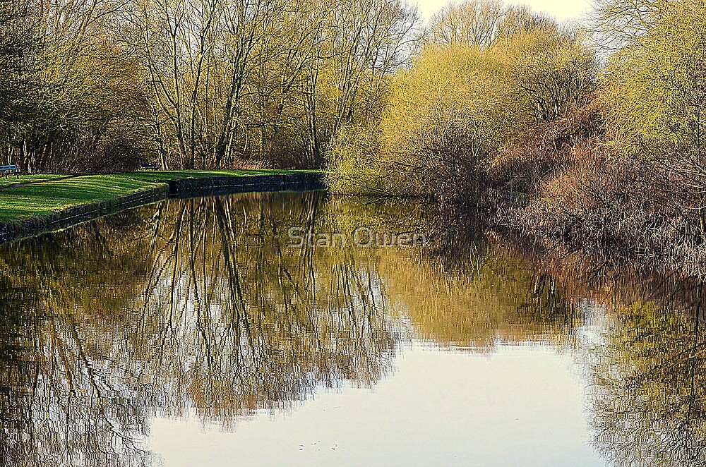 Canal Reflections In Autumn by Stan Owen