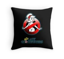 The REAL Lady Ghostbusters - Rule #63 Poster v2 Throw Pillow