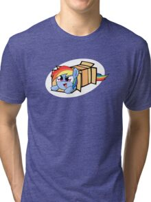 Rainbow Dash in a box Tri-blend T-Shirt