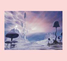 Frozen Alien Landscape One Piece - Short Sleeve