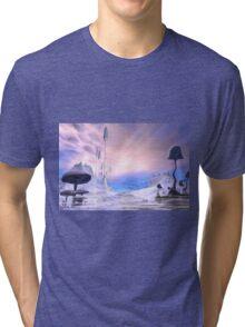 Frozen Alien Landscape Tri-blend T-Shirt