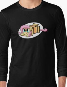 Fluttershy in a box Long Sleeve T-Shirt