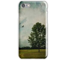 Lone Tree with Birds iPhone Case/Skin