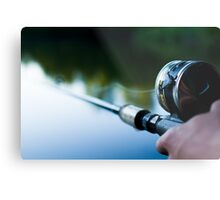 A Fishing Man Metal Print