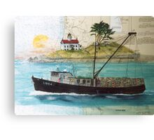 Libra Crab Fishing Boat Cathy Peek CA Nautical Chart Art Canvas Print