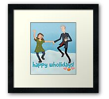 Doctor Who - Happy Wholidays Framed Print