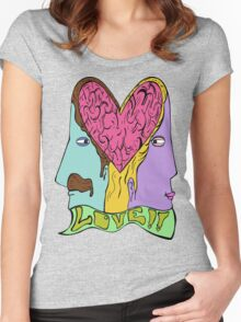 Love is in the Brain Women's Fitted Scoop T-Shirt