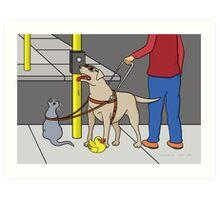 Guide Dog Guide (A Visual Gag) Art Print