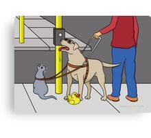 Guide Dog Guide (A Visual Gag) Canvas Print