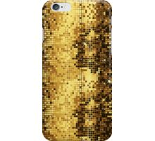 Gold & Brown Retro Disco Ball Glitter Pattern iPhone Case/Skin