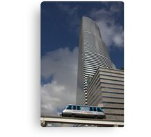 Miami Tower and Metromover Canvas Print