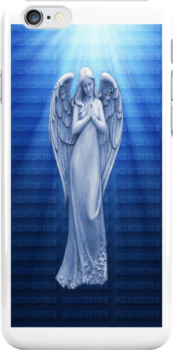 *•.¸♥♥¸.•*BLUE ANGEL RAYS OF LUV IPHONE CASE*•.¸♥♥¸.•*  by ✿✿ Bonita ✿✿ ђєℓℓσ